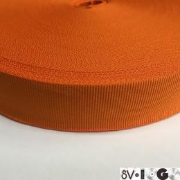 Тесьма репсовая производство 30мм оранжевая (50 метров)