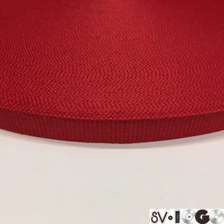 Тесьма репсовая производство 10 мм красная  (50 метров)