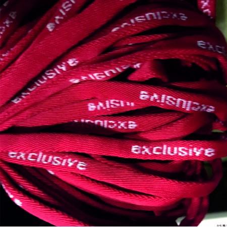 Шнур круглый с логотипом exlusive 7 мм красный (пара)