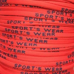 Шнур круглый с логотипом Sport Wear 6мм красный синий (метр )