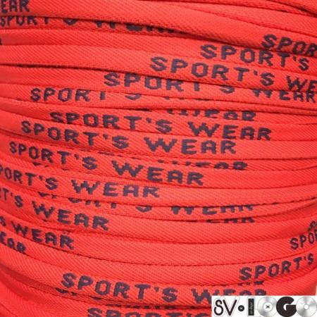 Шнур круглый с логотипом Sport Wear 6 мм красный синий (пара)