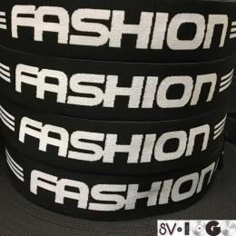 Резинка с логотипом Fashion 40мм  (метр )