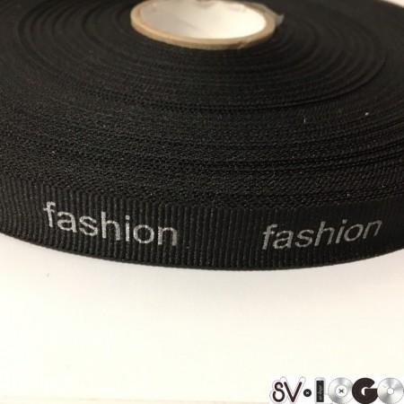 Тесьма репсовая производство 15 мм накатка Fashion серебро (50 метров)