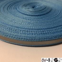Тесьма светоотражающая 1см голубой (50 метров)
