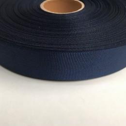 Тесьма репсовая 30мм синяя блеск (100 метров)