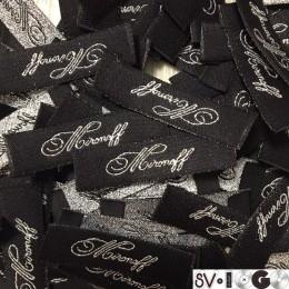 Этикетка жаккардовая вышитая Mironoff 10мм заказная (1000 штук)