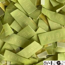 Этикетка жаккардовая вышитая TETRA 15мм заказная (1000 штук)