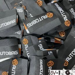 Этикетка жаккардовая вышитая Avtobag 50мм заказная (1000 штук)