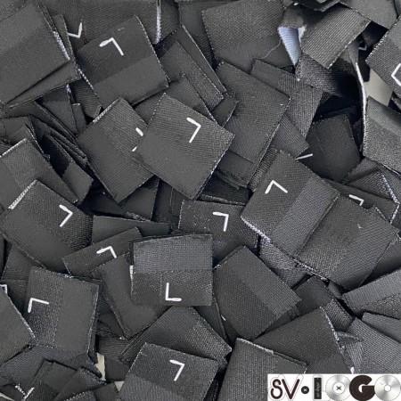 Размер жаккардовый L 18мм черный (1000 штук)