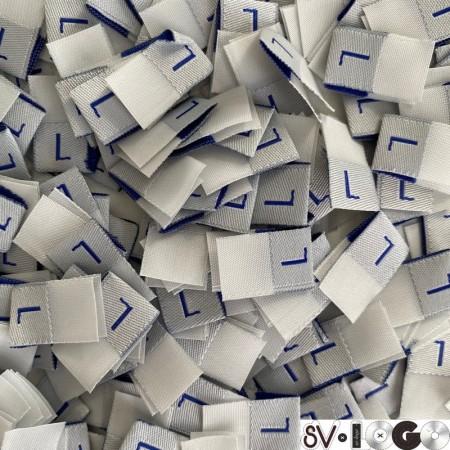 Размер жаккардовый L 10мм серый синий (1000 штук)