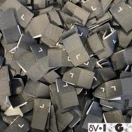 Размер жаккардовый L 10мм черный белый боковой пришив (100 штук)