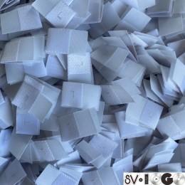 Размер жаккардовый L 10мм белый светло-серый боковой шов (1000 штук)